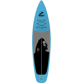 Indiana SUP 11'6 Family - Planche - with 3-Piece Fibre/Composite Paddle gris/bleu